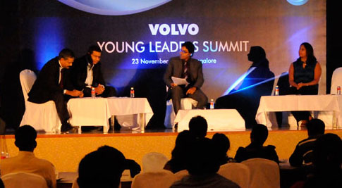 Rahulkapoor at Volvo young Leaders Meet