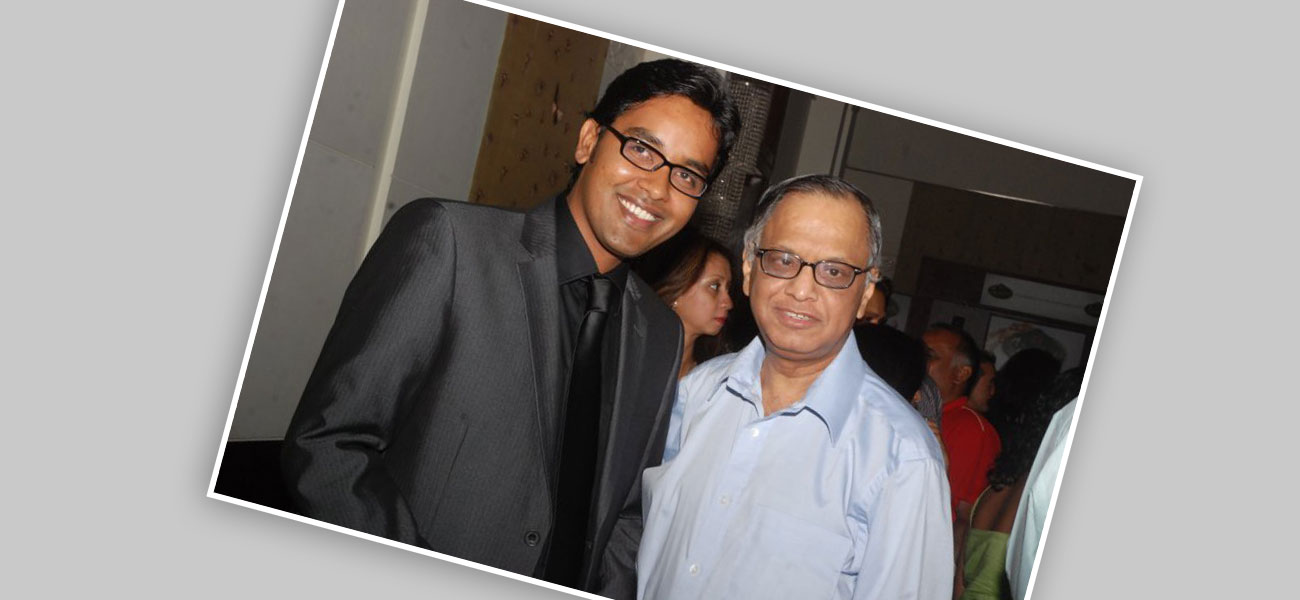 With N. R. Narayana Murthy – Founder of Infosys
