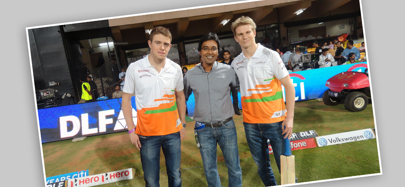 With Nico Hulkenberg and Paul di Resta – F1 Drivers of Sahara Force India