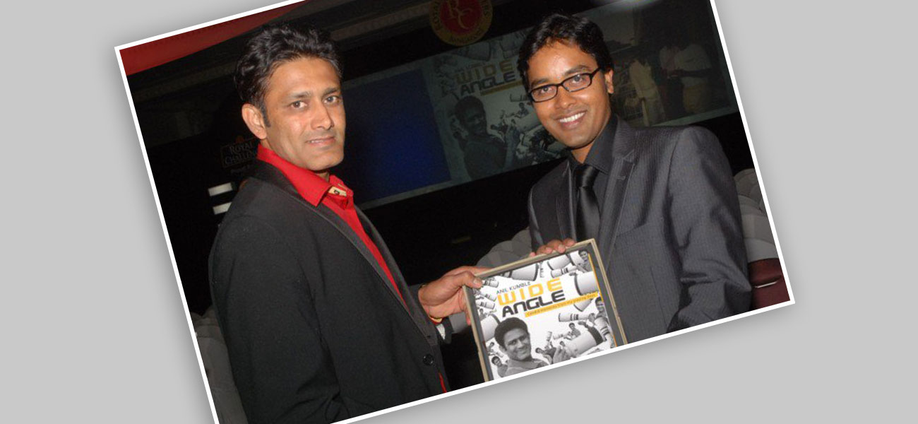 With Anil Kumble – Coach of Indian Cricket Team