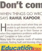 Don't Complain Take Action by Rahul Kapoor